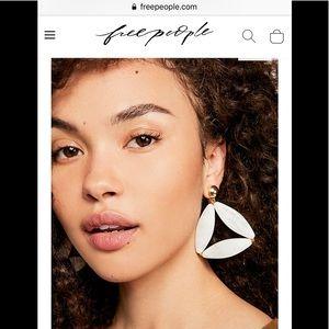 Free people Pyramid Resin Earrings